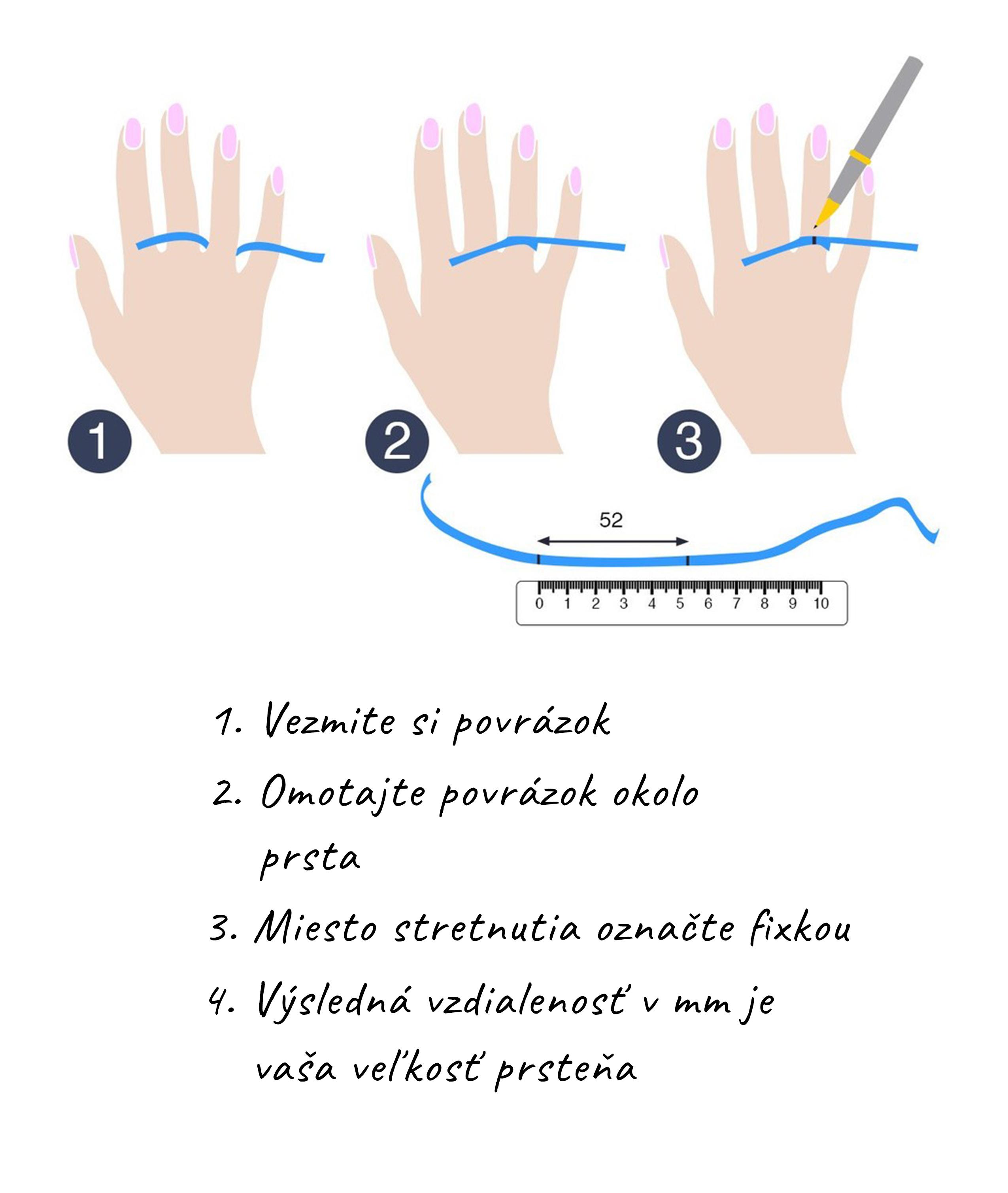 Ako zmerať veľkosť prsteňa